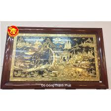 Ngắm nhìn vẻ lung linh cuả tranh đồng quê bằng đồng mạ vàng 24k cao cấp (2)