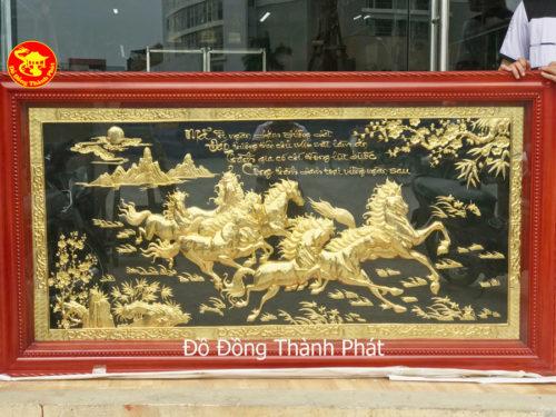 Mua tranh đồng mạ vàng 24 k cao cấp